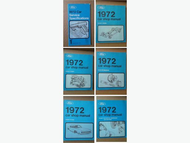 1972 Ford set of Car Shop Manuals