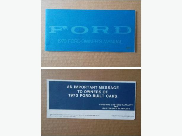 1973 Ford Owner's Manual