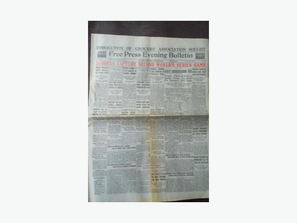 1920 Winnipeg Free Press Evening Bulletin