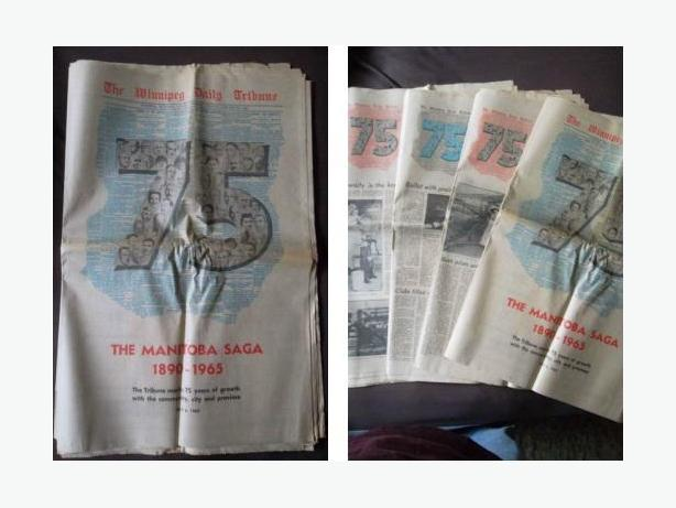 1965 Winnipeg Tribune 75th Anniversary Edition