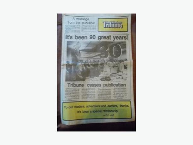 1980 Final Edition of The Winnipeg Tribune
