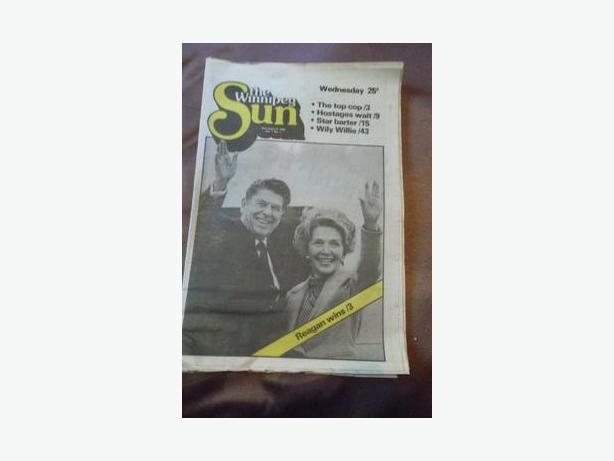 1980 First Edition of The Winnipeg Sun