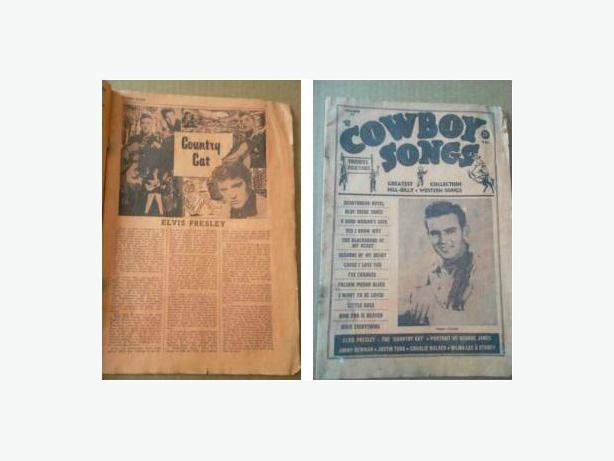 "1956 ""Cowboys Songs"" Booklet - Elvis Presley"