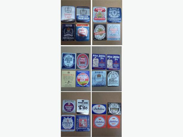 1977 beer bottle labels made for Queen Elizabeth II Silver Jubilee