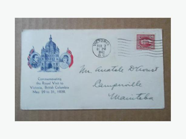 1939 Canadian First Day Cover - Royal Visit to Victoria, British Columbia