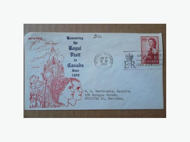 1959 Canadian First Day Cover - Royal Visit to Canada