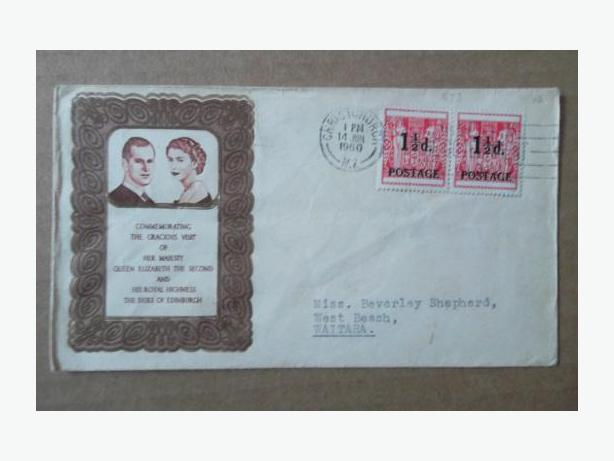 1960 New Zealand Royal Visit First Day Cover