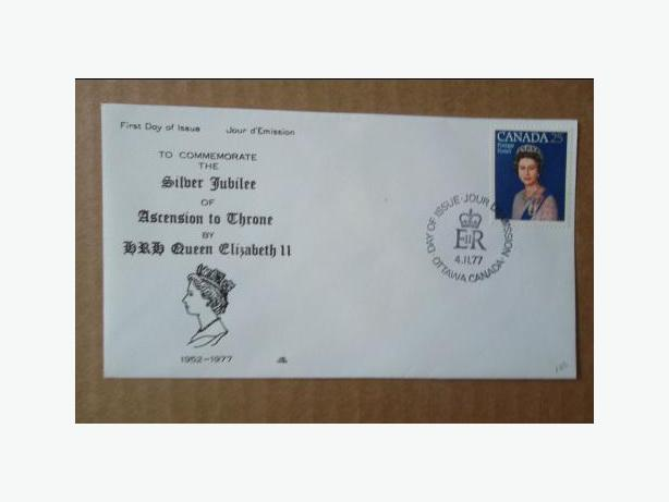1977 Canadian First Day Cover - Queen Elizabeth II Silver Jubilee