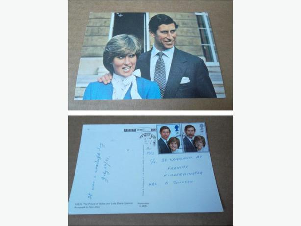 Prince Charles and Lady Diana postcard