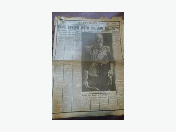 1936 Newspaper - Burial of King George V