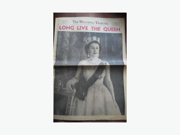 1953 Queen Elizabeth II Coronation Newspaper