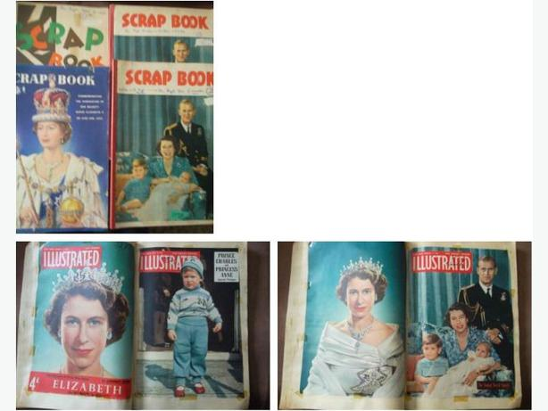 Four 1950's Scrapbooks on The Royal Family