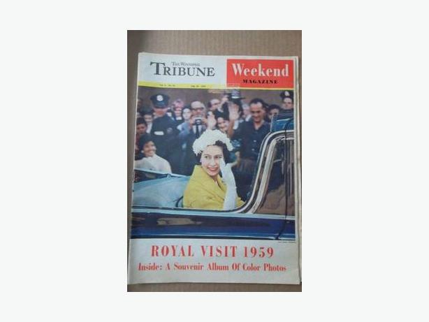 1959 - Queen Elizabeth II Royal Visit Magazine