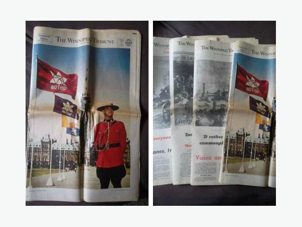 1967 Canada Centennial Edition of the Winnipeg Tribune