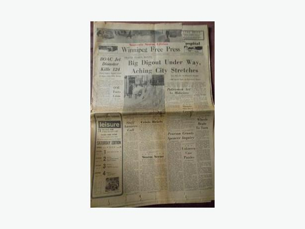 "1966 Winnipeg Free Press Blizzard of ""66 ""Souvenir Storm Edition"""