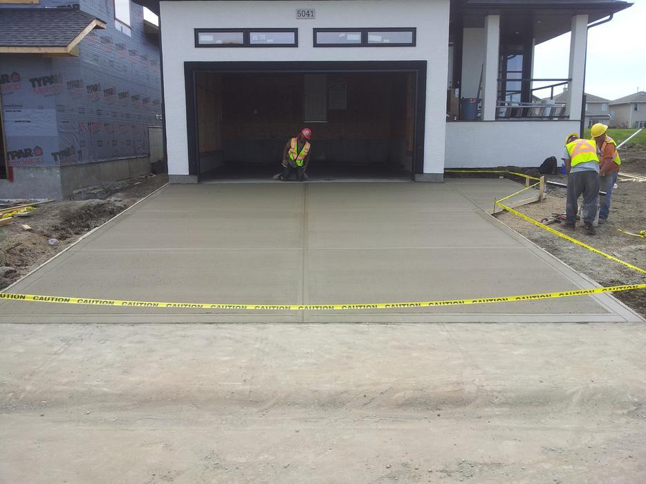 Concrete image driveways garage packages patios for Garage packages edmonton