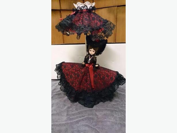 Rare 1970's Bradley Doll Lamp