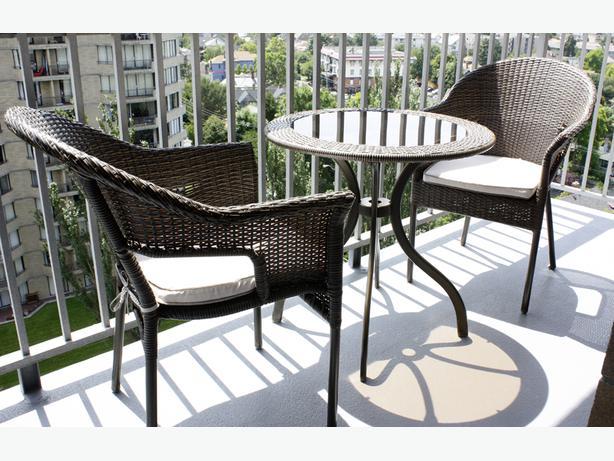 Outdoor Wicker 3 Piece Bistro Set Table 2 Chairs Victoria City Victoria