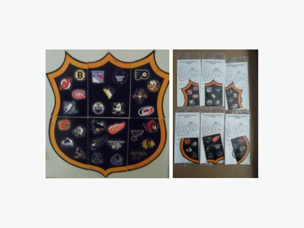 Labatt's NHL logos shield fridge magnet set