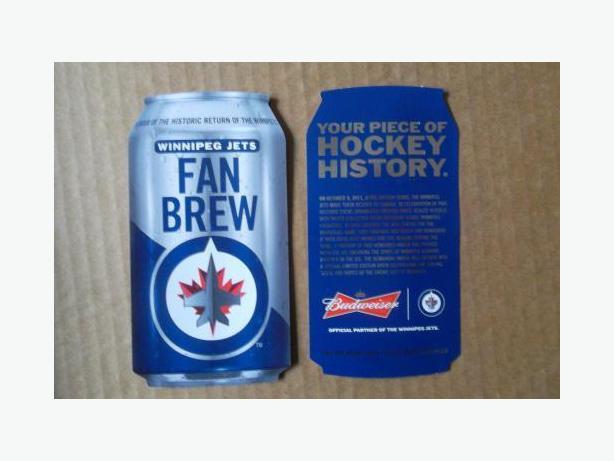 """2011/2012 Budweiser - Winnipeg Jets """"Fan Brew"""" promotion card"""