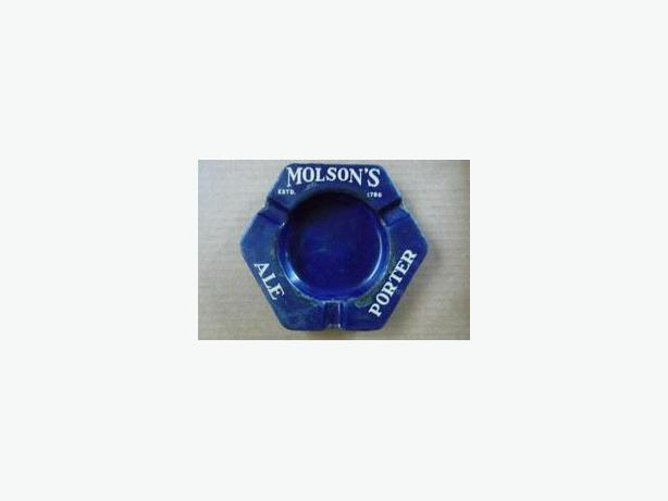 Molson's porcelain ashtray