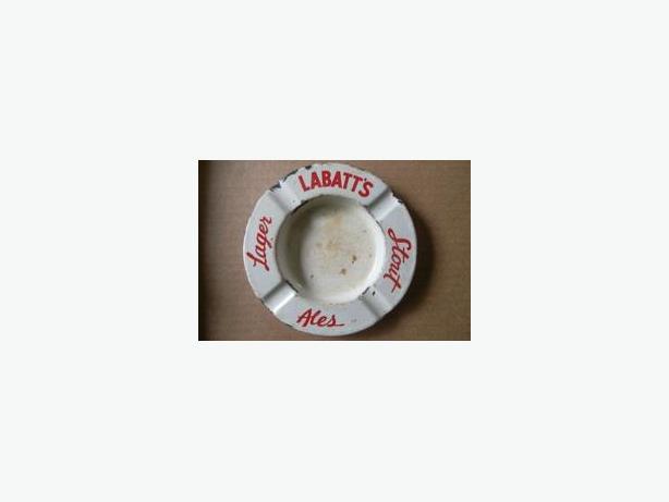 Labatt's porcelain ashtray