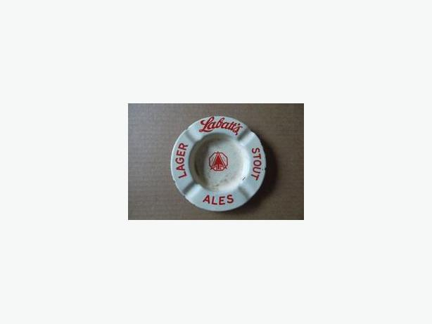 Labatt's Lager, Stout, Ales porcelain ashtray