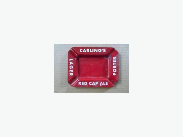 Carling's porcelain ashtray (Lager, Red Cap Ale, Porter)