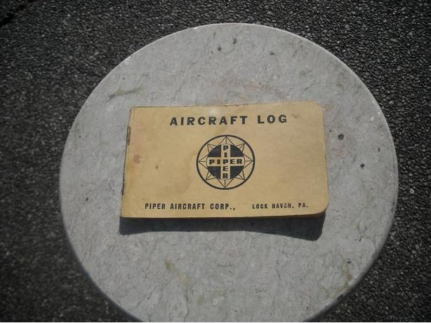 1954 PIPER AIRCRAFT CORP. LOG BOOK