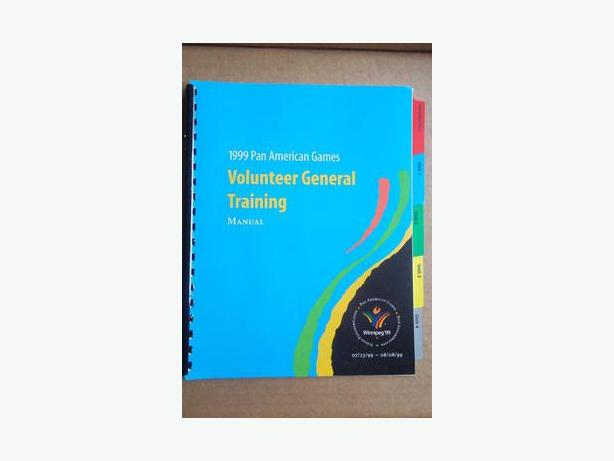 1999 Pan-Am Games Volunteer General Training Manual