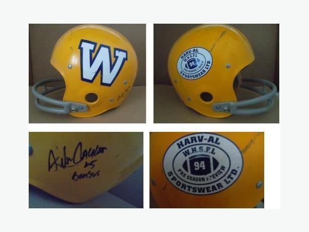 Alfred Jackson Autographed Football Helmet