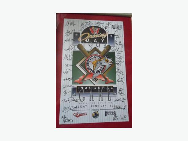 1994 Winnipeg Goldeyes Autographed Poster