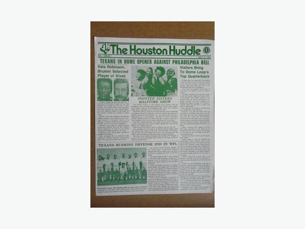 2 - 1974 Houston Texans (WFL) newsletter