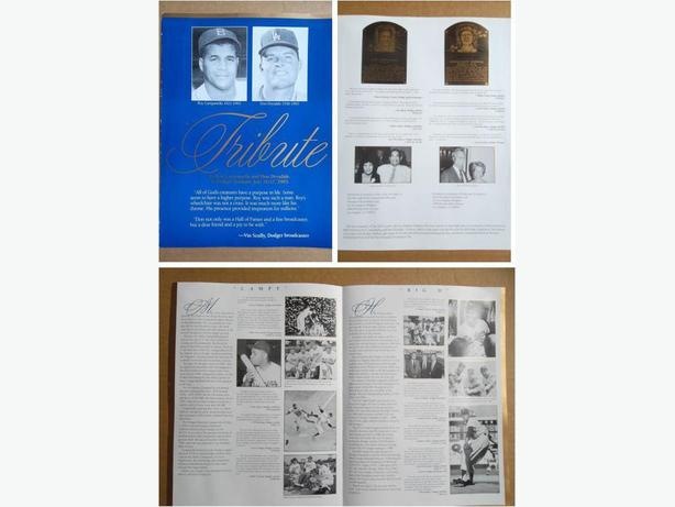 1993 Los Angeles Dodgers tribute to Roy Campanella & Don Drysdale brochure