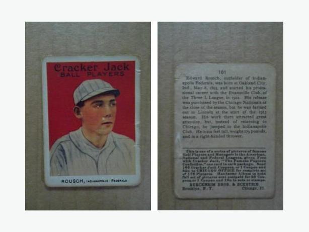 1915 Cracker Jack - Ed Rousch (Edd Roush) baseball card