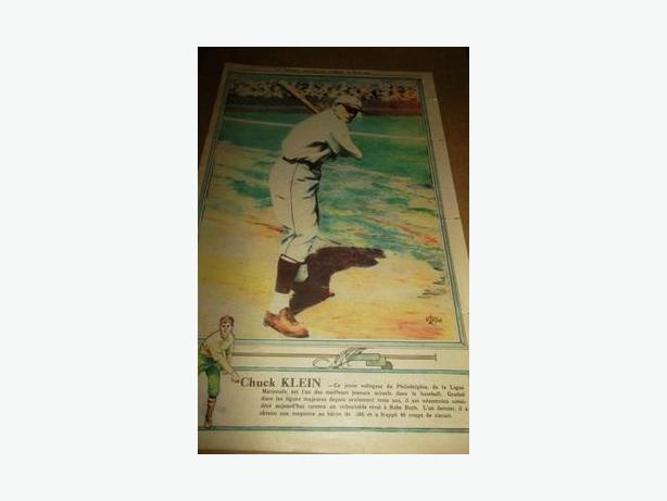 1931 Chuck Klein La Presse baseball photo