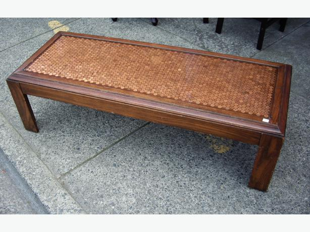 Amazing Copper Penny In Resin Top Large Coffee Table Outside Victoria Victoria