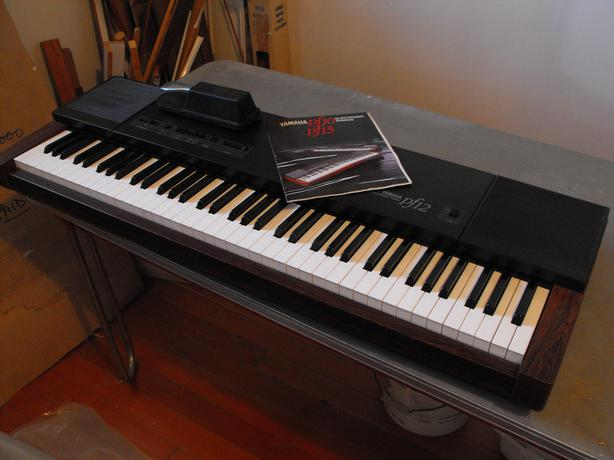 yamaha pf 12 electronic piano keyboard accessories victoria city victoria. Black Bedroom Furniture Sets. Home Design Ideas