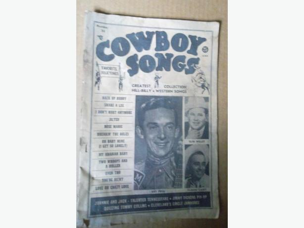 """1950's """"Cowboys Songs"""" booklets"""