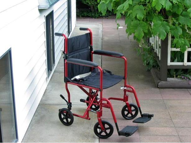 Spotless Invacare Red Ultra-Light Weight Transport Wheelchair For Sale