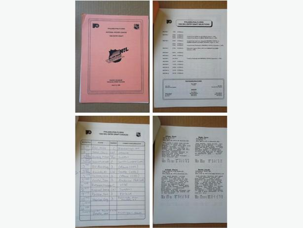 1990 Philadelphia Flyers NHL Entry Draft player profile booklet