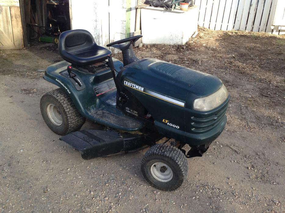 Craftsman Lt1000 Mower Manual : Craftsman lt riding lawn mower car interior design