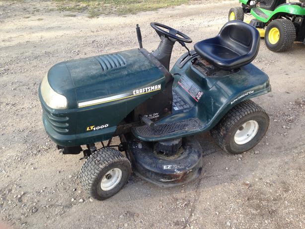 1998 Craftsman Lt1000 Riding Mower For Sale Rural Regina