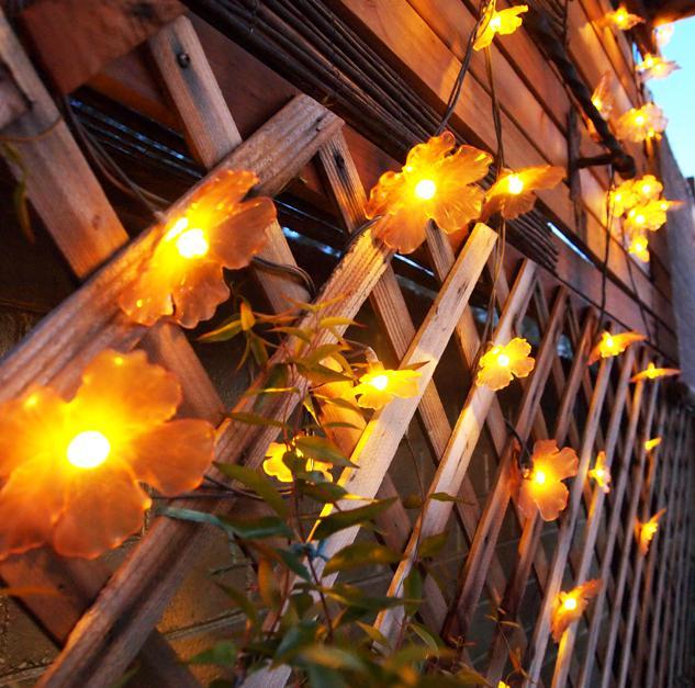 Orange Flower Ikea String Lights - 20 OBO Saanich, Victoria