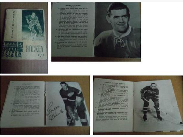 1954 Celebrites Hockey Book