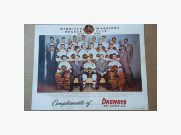 1957/58 Winnipeg Warriors (WHL) team picture