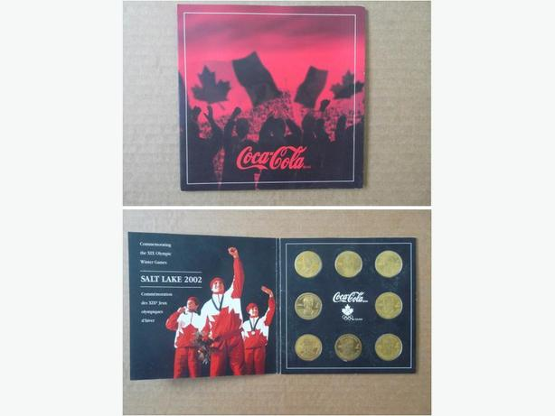 2002 Team Canada Olympic Hockey Team coin set by Coca-Cola (in folder)