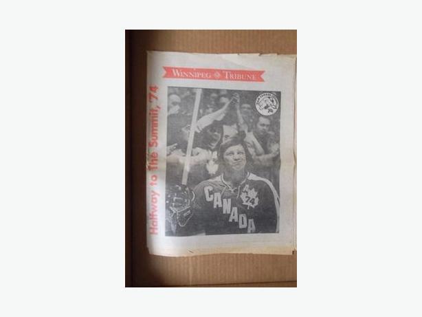 1974 Team Canada (WHA) vs Soviet Union special edition newspaper
