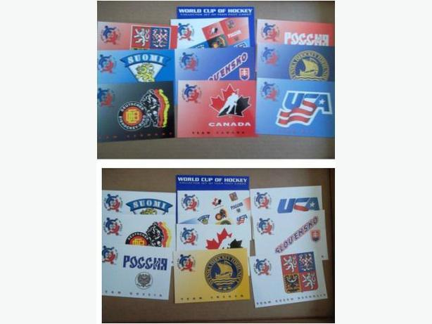 1996 World Cup of Hockey postcard sets