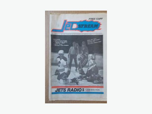 "1977 Winnipeg Jets (WHA) ""Jetstream"" newspapers"